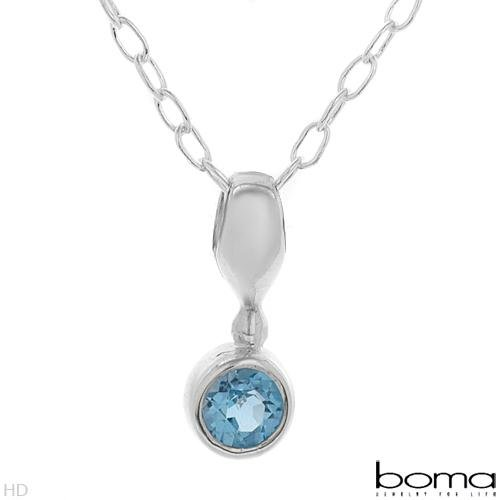 BOMA Blue Topaz Stylish Necklace Retails $ 80.00