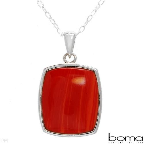 BOMA Coral Sterling Silver Necklace Retail's $160.00
