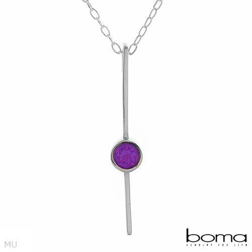 BOMA Amethyst Sterling Silver Necklace Retail's $100.00
