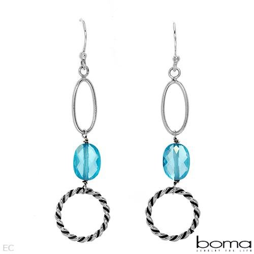 BOMA Sterling Silver Cubic Zirconia Earrings