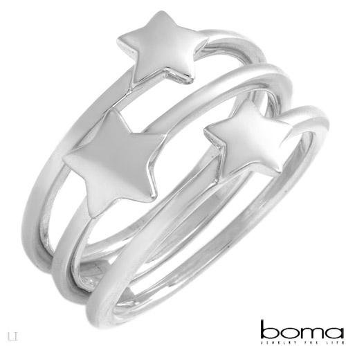 BOMA Sterling Silver Star Ring..Gorgeous