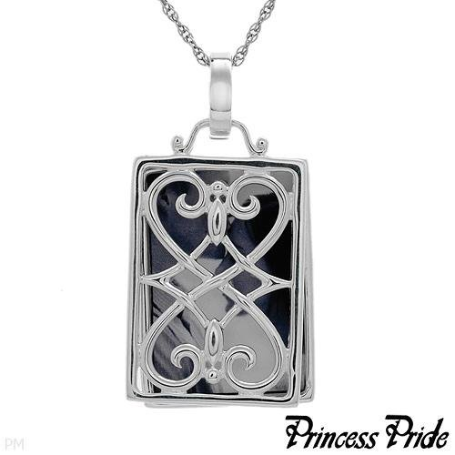 PRINCESS PRIDE Sterling Silver Elegant Square Locket