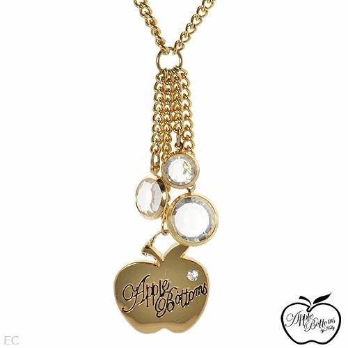 Apple Bottoms Necklace: Crystal  Enamel Retail $60.00