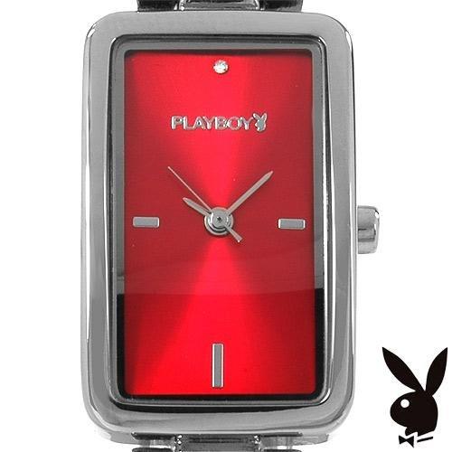 "Playboy Elegant ""Icon"" Red Faced Ladies Watch"