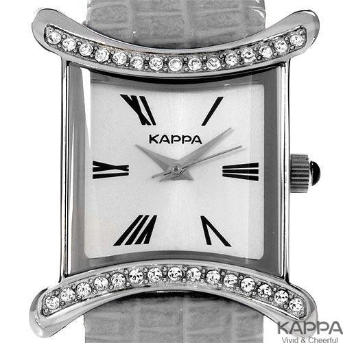 KAPPA Grey Leather/ Crystals Gorgeous Ladies Watch