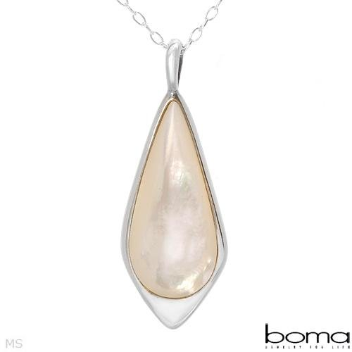 BOMA Teardrop Mother of Pearl Necklace Retails $170.00