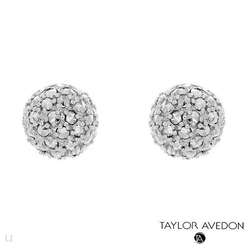 TAYLOR AVEDON MARCASITE STERLING SILVER STUD EARRINGS