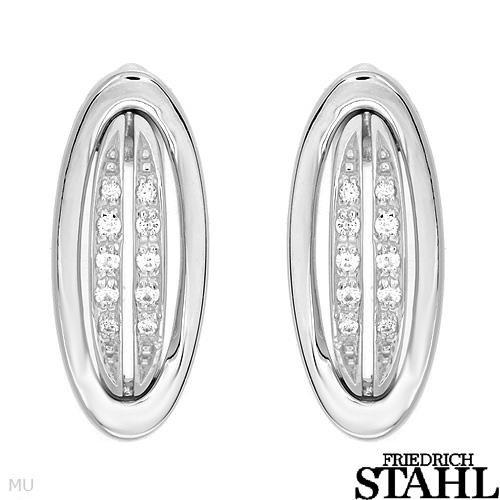 Friedrich Stahl Sterling Silver/Cubic Zirconia Earrings