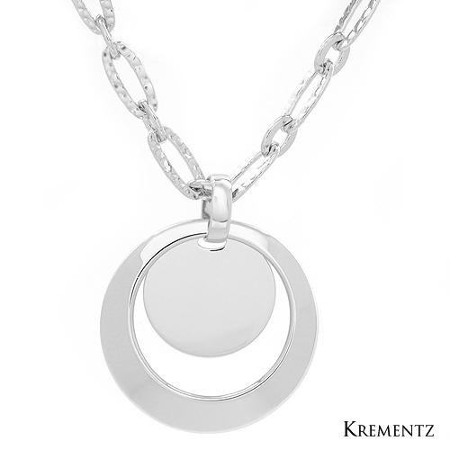 KREMENTZ Sterling Silver High Quality Circle Necklace