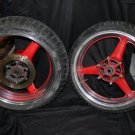 01 YAMAHA YZFR6 YZF R6 POLISHED RIMS....SET