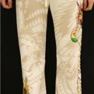 ED HARDY FOIL DRAWSTRING LOUNGE PANTS: LOVER BOY