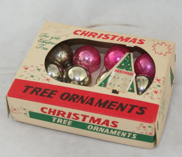 1950s,60s Pkg Miniature Glass Balls-OP-Japan