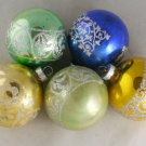 5 Shiny Brite Glass Ornaments-VINTAGE ORNAMENT-USA