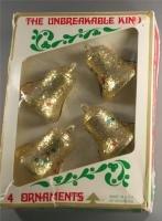 60s/70s Bell Ornaments-Plastic Glitter,Sequins-Bradford