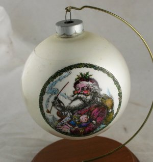 Sleeved Glass Ornament-Thomas Nast-Made in USA-VINTAGE
