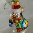 Glittered Penguin Glass Figural Ornament -NB No Marks