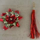 Foil,Glass Bead & Tassel VINTAGE ORNAMENT Japan Pkg Dec