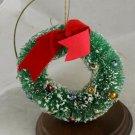 Bottlebrush Wreath Ornament-Japan-Glass Bead VINTAGE ORNAMENT