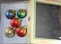 Commodore Romania 2-1/4 In Glass Ornaments VINTAGE OB