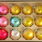 Shiny Brite 60/70s 2-1/4 In Glass Ornaments VINTAGE OB
