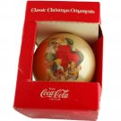 Corning Glassworks Classic CocaCola Santa Ornament VINTAGE 3-1/4 inches