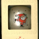 Hallmark Jolly Santa Glass Ornament 1980 Tree Trimmer Collection