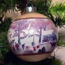 Grandma Moses Glass Ball 1977 hallmark ornament