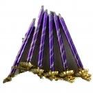 Purple Glass Candle Clip Ornament Set of 6