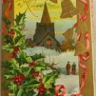 Golden Age Embossed,AMP Church Holly  POSTCARD VINTAGE