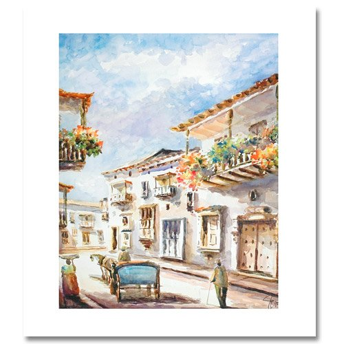 WATERCOLOR VI by Juan Carlos Arango. Hand signed limited edition giclee on CANVAS.