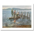 HANSEN'S PIER by William Nelson. Hand signed limited edition lithograph.