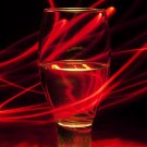 Glass With Light Trails (Print Only) 11x17