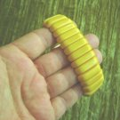 VNTG Butterscotch Yellow Bakelite Stretch Bracelet TSTD