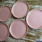 5 Russel Wright American Modern Bread Plates 6 in Coral
