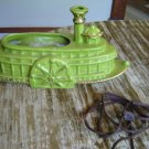 VNTG Chartreuse Riverboat/Ship TV Lamp Retro 50s