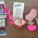 1977 Barbie House Entertainment End Table +ADV Fliers +