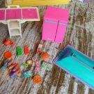 1982 Barbie Dream House PINK Refrigerator +ALL xtra PCS