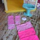 OLD Bathroom Sink Rack w/Towels Scale Barbie Doll House