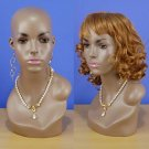 "Brand New 17"" Brown-Black Head Female Mannequin 107B"