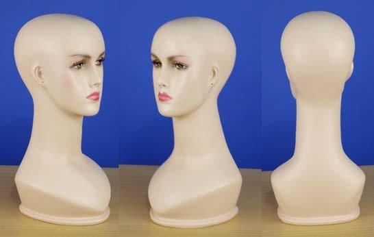"Brand New 15"" Flesh Tone Head Female Mannequin 101N"