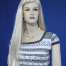 Brand New Bleach Blonde Full Long Wig 896