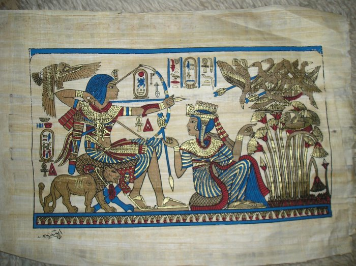 FREE SHIPPING EGYPTION PHAROUS PAPYRUS