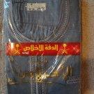 FREE SHIPPING Thobe Thoub gray  Robe Men Daffah Dishdasha Arabian