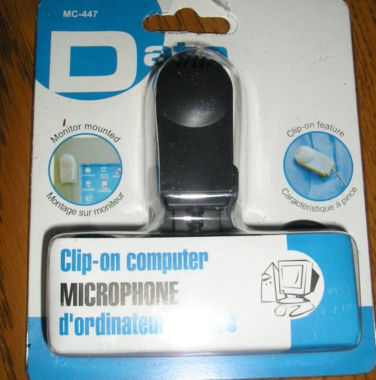FREE SHIPPING NEW CLIP ON MINI MIC MONITOR MOUNT  PC/ COMPUTER MICROPHONE