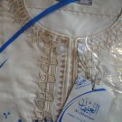 Free Shipping Ivory Boys Thobe Thoub Arab Jubba Dress Kurta Islamic Qamis