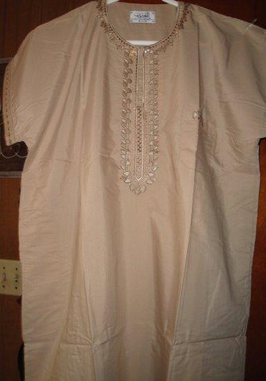 Free Shipping Light BrOWN Boys Thobe Thoub Arab Jubba Dress Kurta Islamic Qamis