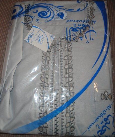 Free Shipping Gray Boys Thobe Thoub Arab Jubba Dress Kurta Islamic Qamis