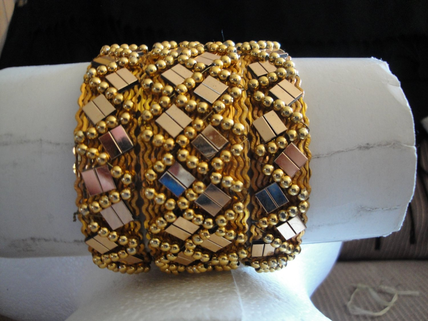 Free Shipping 3 bangles indian style with sequin
