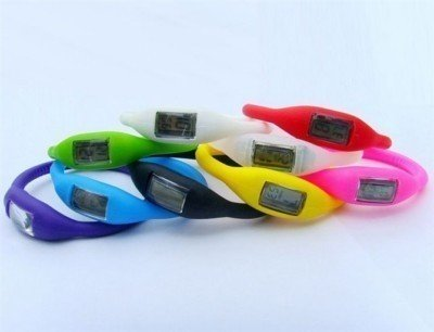 SILICONE ION SPORTS WATCH RUBBER GYM LCD SPORT FREE SIZ