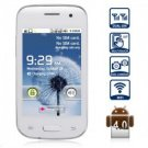 """free ship unlocked white 3.5"""" unlocked android 4.0 phone Smart Phone GSM dual sim GS 1ghz"""